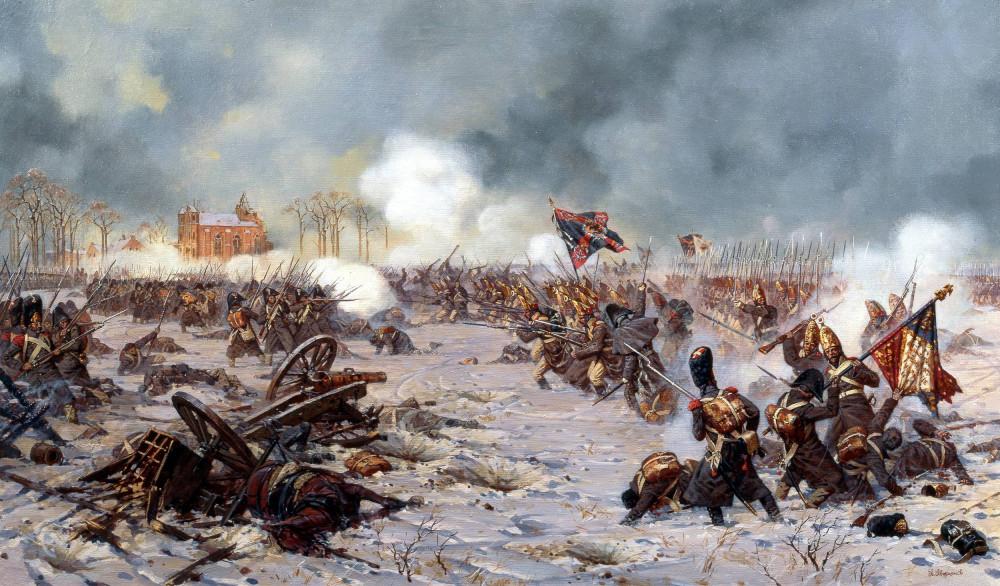 Сражение под Прейсиш-Эйлау 1807 Атака Московского полка