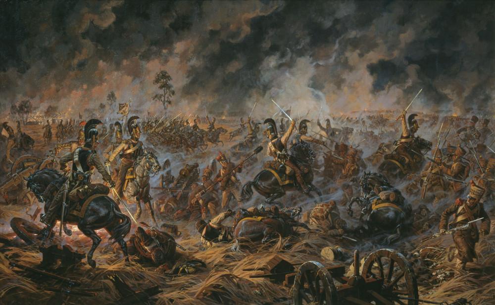 Атака наших на Шевардинский редут перед Бородинским боем