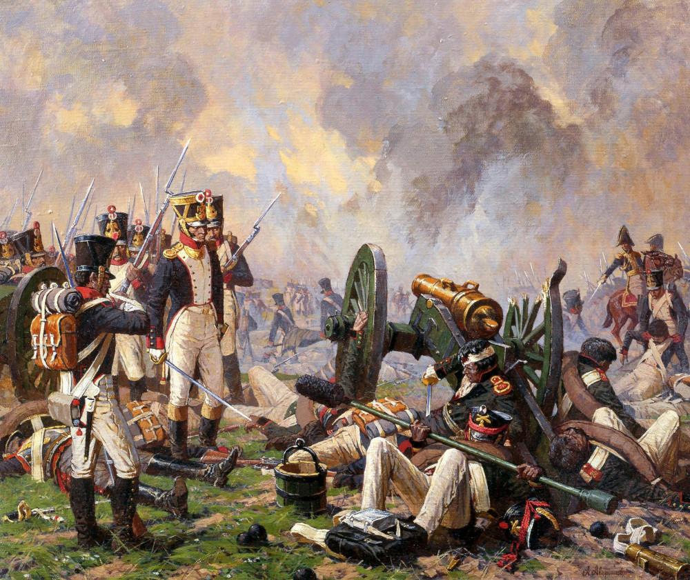 Уважение к врагам. Французы на захваченной батарее