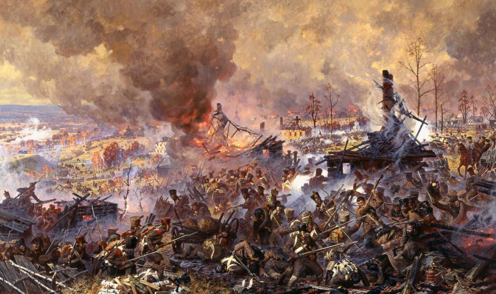Сражение за Малоярославец. Ополченческий полк гонит французов