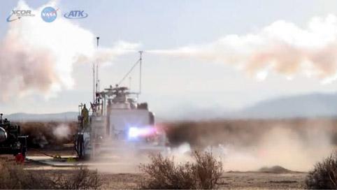 Тестовый прожиг кислородно-метанового двигателя тягой 7500 фунтов
