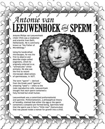 Фамилия ученого первым открывшего сперматозоиды