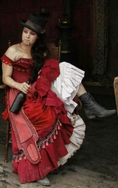 Дикого платья запада проституток