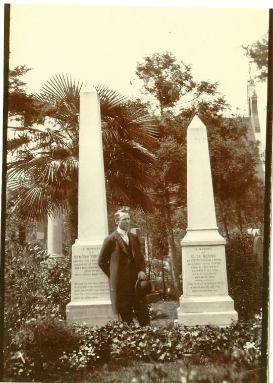 Matthew T and Eliza M Yates' headstones in Pahsienjao Cemetery - Shanghai, China