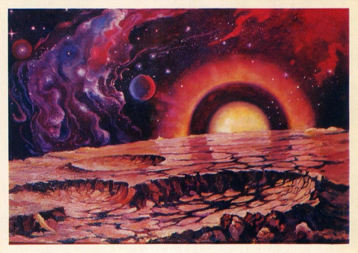 Картина космонавта Евгения Леонова, выбрана в качестве заставки группы.