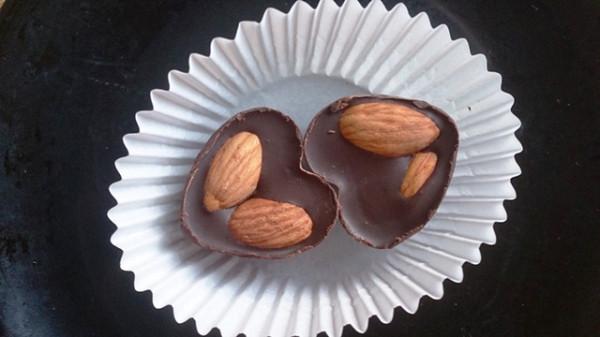 шоколадное средце