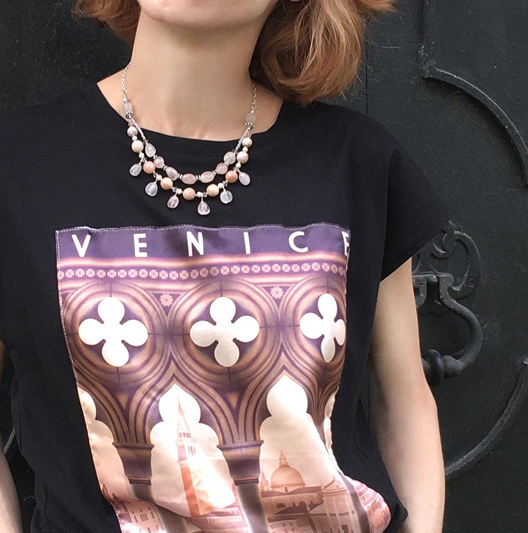 венеция украшения бусы италия итальянцы венецианцы путешествия путешествие по европе путешествие по италии женщины итальянки красивые женщины украшения из натуральных камней бусы украшения розовый кварц ожерелье бусы из камней модные украшения актуальный украшения стилист