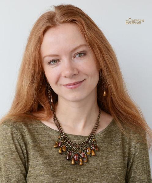 браслет ожерелье из натуральный яшма тигровый глаз длинные бусы комплект авторские украшения камни