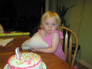 The Birthday Girl With Cake