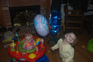 Katie, Julie, and Balloons
