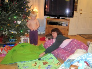 Trying Out the Sleeping Bags