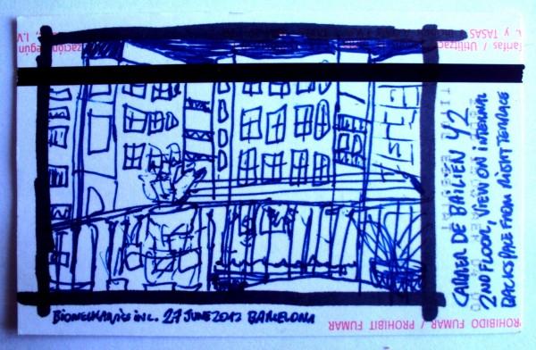 BIOMECHANICSINC. drawing on metroticket barcelona