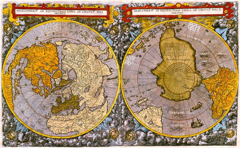 (Карта мира предположительно 1593 года)
