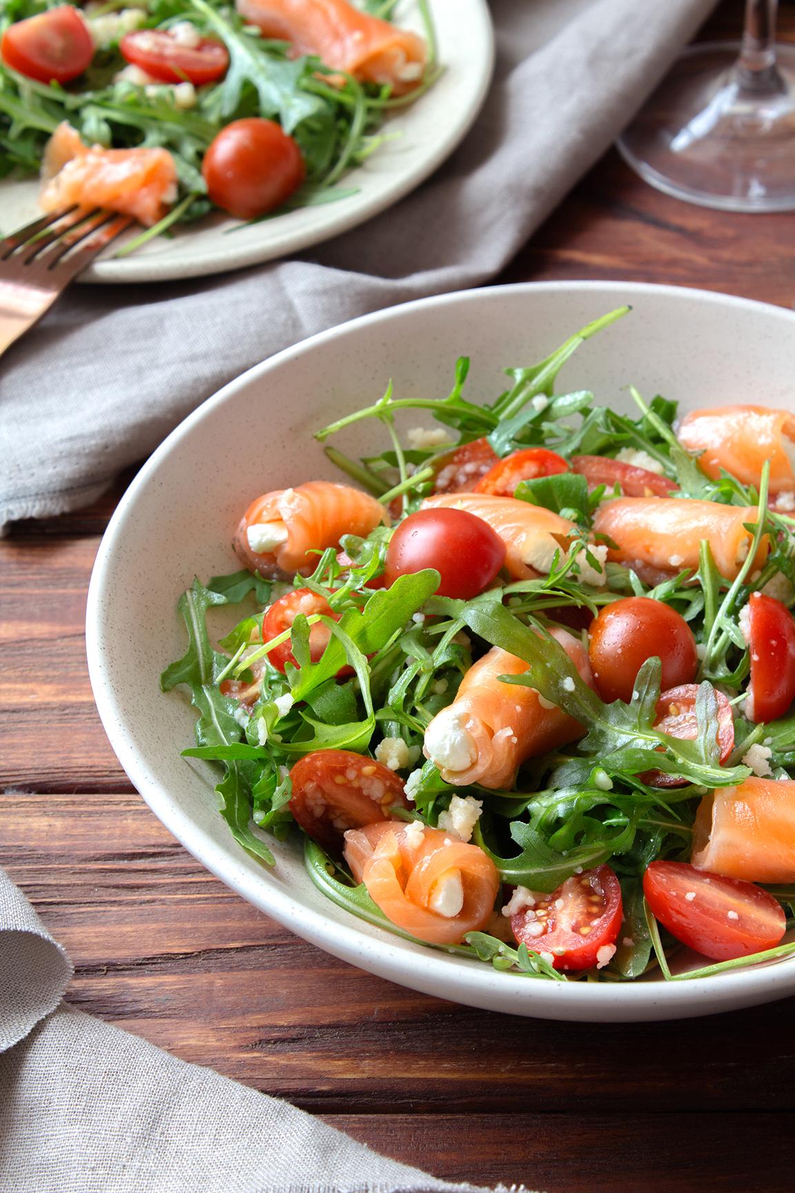 салат с семгой и картошкой фото рецепт окон каждой квартиры