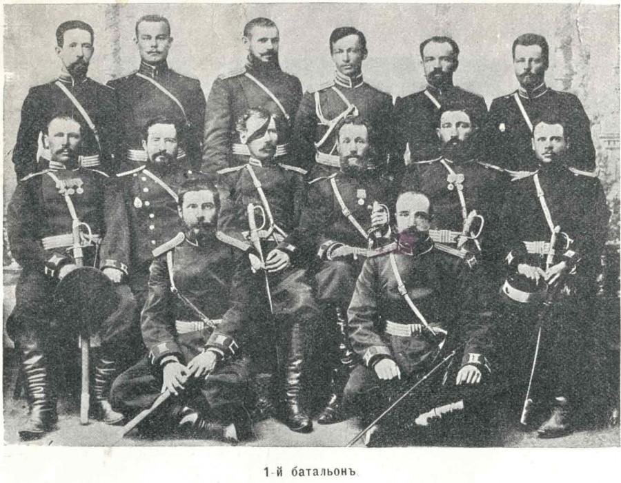 _Офицеры 1-го батальона 11-го пехотного Сибирского Семипалатинского полка