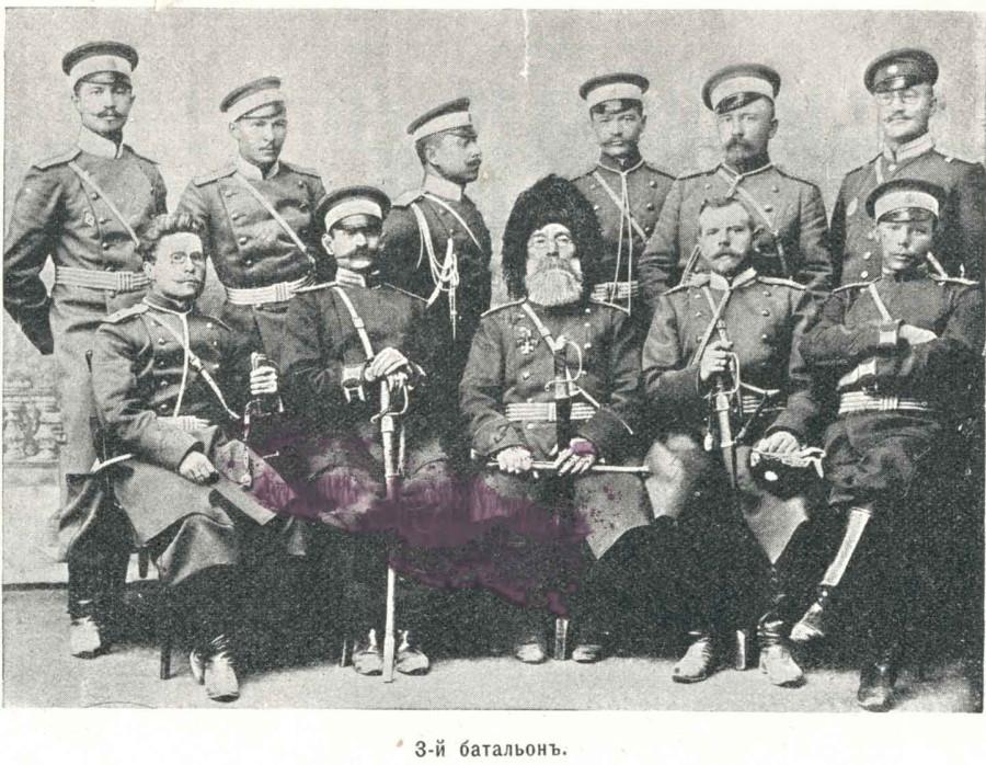 _Офицеры 3-го батальона 11-го пехотного Сибирского Семипалатинского полка