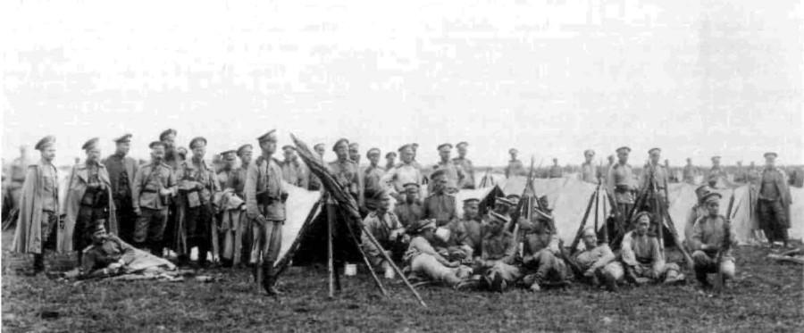 Енисейский полк на биваке