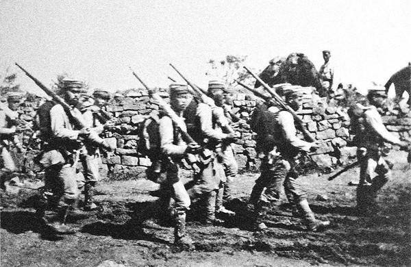 Японская пехота на марше