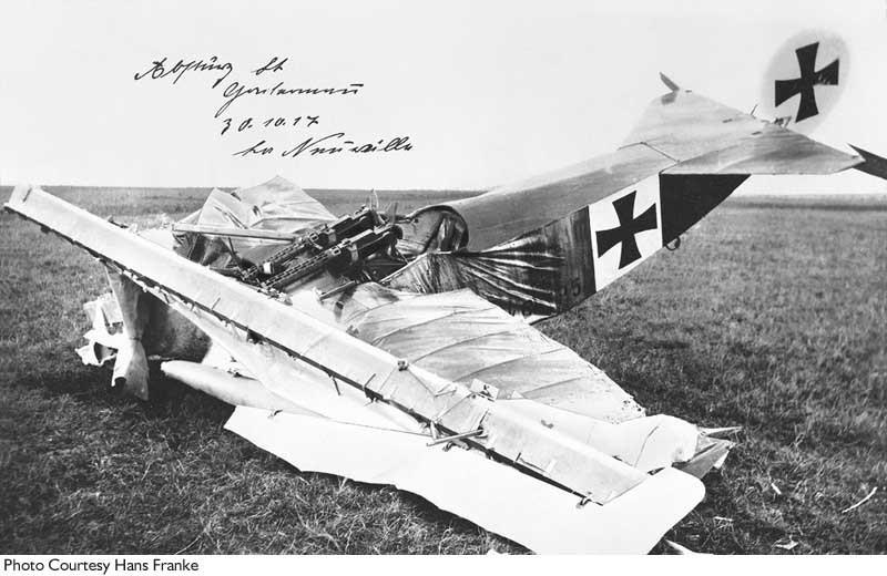 Фоккер потерпевший аварию 30.10.1917