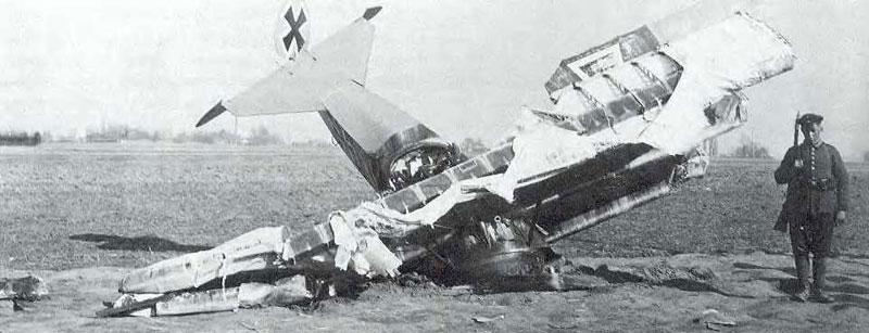 Fokker-DrI Лотара Рихтгофена разбившийся 19.03.1918