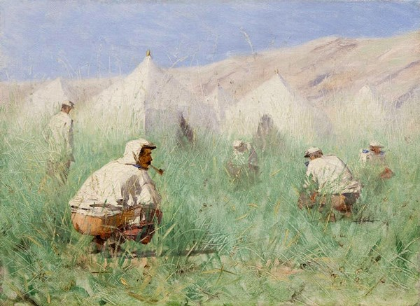 В.В. Верещагин (1842–1904). Русский лагерь в Туркестане. Этюд.