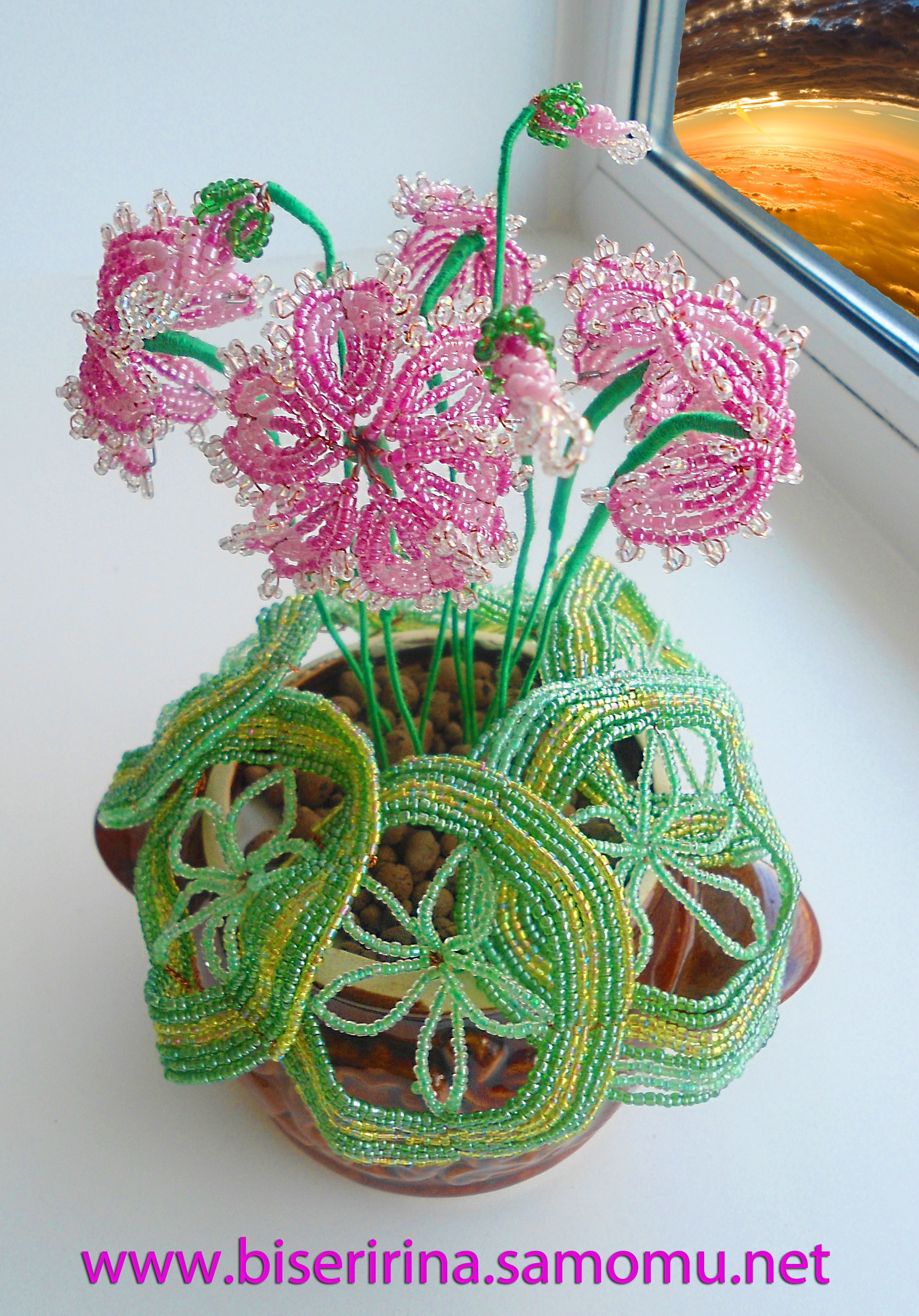 Схема цикламена из бисера Красочный бисер.