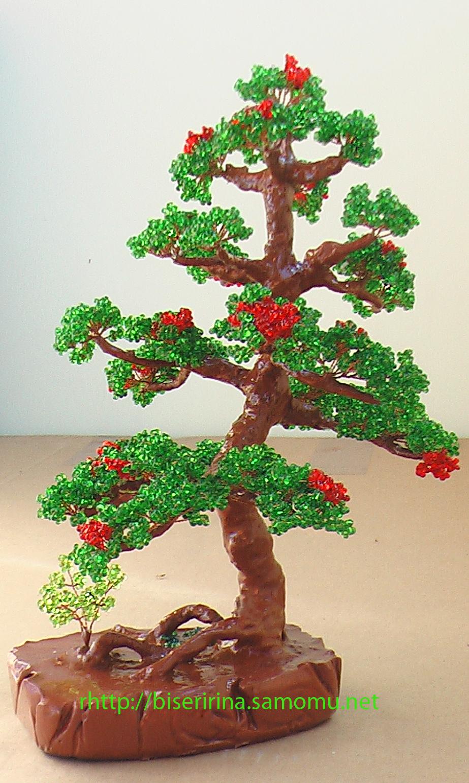 ...легко научиться делать своими руками деревья, такие как береза, клен, сакура, бонсай, топиарий из бисера.. .