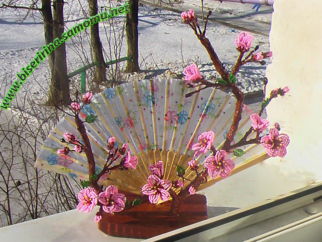Бисероплетение-МК дерево сакуры2.