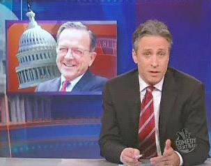 Ted Stevens and Jon Stewart