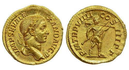 Римская империя, Александр Север, 222-235 годы, аурей 2