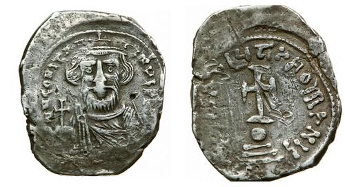 Византийская империя, Констант II, 641-668 годы, гексаграмма