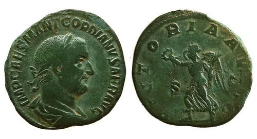 Римская империя, Гордиан I Африканский, 238 год, сестерций