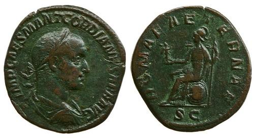 Римская империя, Гордиан II Африканский, 238 год, сестерций