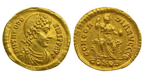 Римская империя, Феодосий I, 379-395 годы, солид