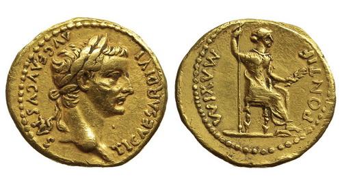 Римская империя, Тиберий, 14-37 годы, аурей