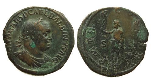 Римская империя, Бальбин, 238 год, сестерций