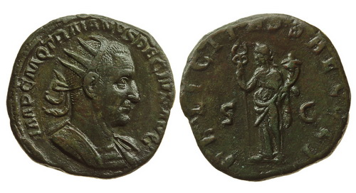 Римская империя, Траян Деций, 249-251 годы, двойной сестерций