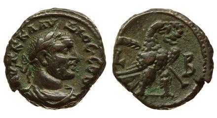 Римская империя, провинция Египет, Клавдий Готский, 268-270 годы, тетрадрахма 2