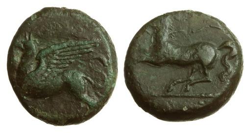 Сицилия, Алеса, 365-300 годы до Р.Х., АЕ19