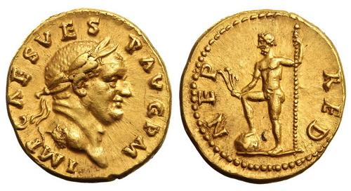 Римская империя, Веспасиан, 69-79 годы, аурей