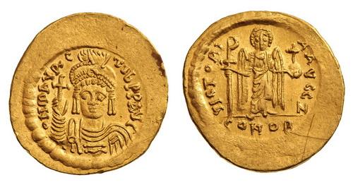 Византийская империя, Маврикий Тиберий, 582-602 годы, солид