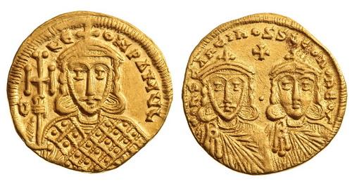 Византийская империя, Константин V, 741-775 годы, солид