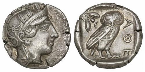 Аттика, Афины, 449-404 годы до Р.Х., тетрадрахма