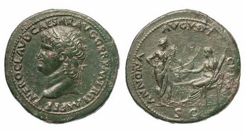 Римская империя, Нерон, 54-68 годы, сестерций