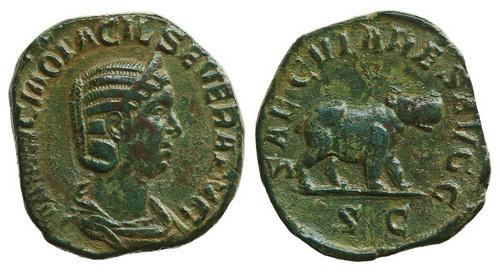 Римская империя, Отацилия Севера, жена Филиппа I Араба, сестерций