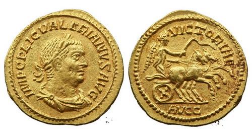 Римская империя, Валериан I, 253–260 годы, аурей