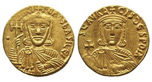 Византийская империя, Никифор I и Ставракий, 802-811 годы, солид