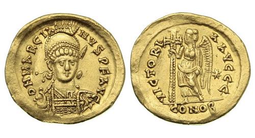 Римская империя, Марциан, 450-457 годы, солид  2