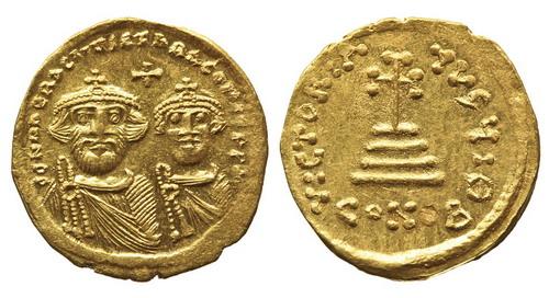 Византийская империя, Ираклий, 610 - 641 годы, солид  2