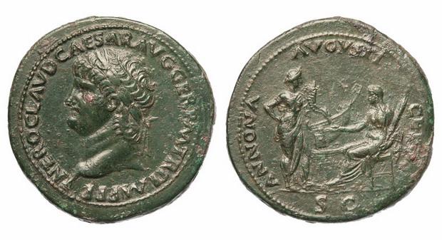 Римская империя, Нерон, 54-68 годы, сестерций 2